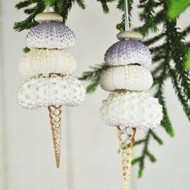 Christmas decoration Sea Urchin Tree