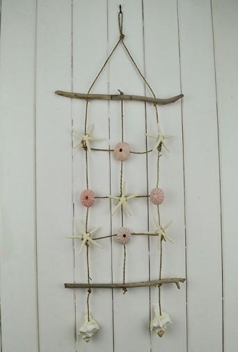 Seashell Wall Hanging seagrass Net Urchins and Starfish