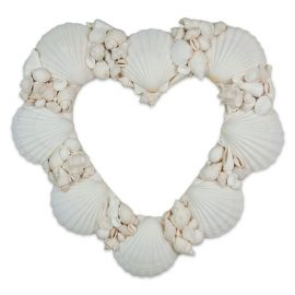 Wreath Shell Heart White shells