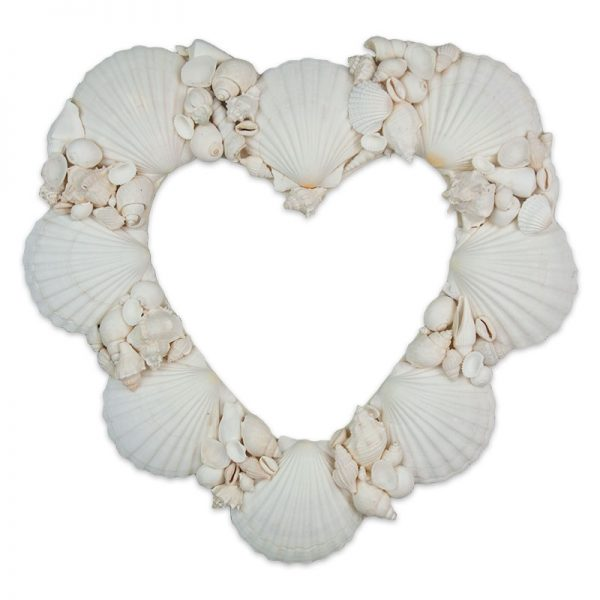 Wreath Shell Heart White shells