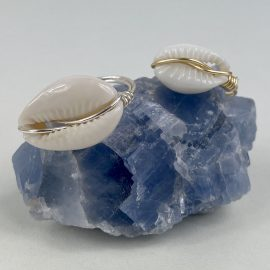 Shell Wire Ring Cowrie Style #1