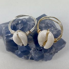 Shell Wire Ring Cowrie Style #2